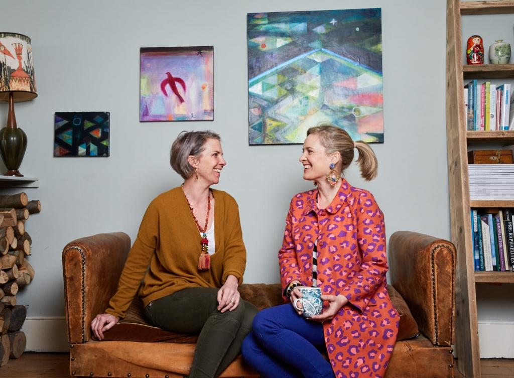 Interior Designer Sophie Robinson and artist Becky Blair