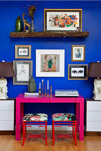Choose saturated brights for a modern look