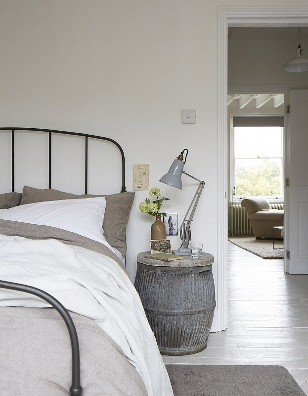 RE purposed rustic items work well with this look. Room designed and photographed by Paul Massey.