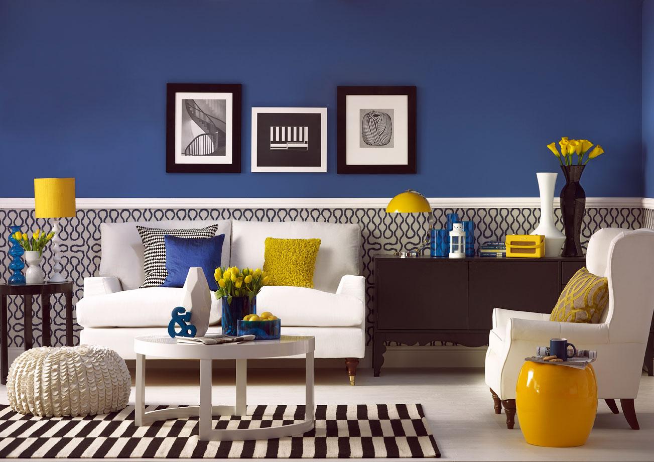 The Great Interior Design Challenge  Dark Blue Room