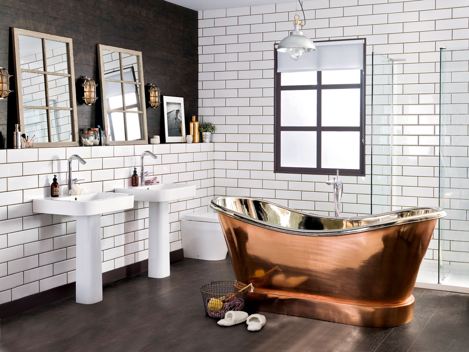 How to get the industrial look sophie robinson - Salle de bain style industriel ...
