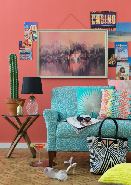 How to decorate with bold colour sophie robinson - Marks and spencer living room ideas ...