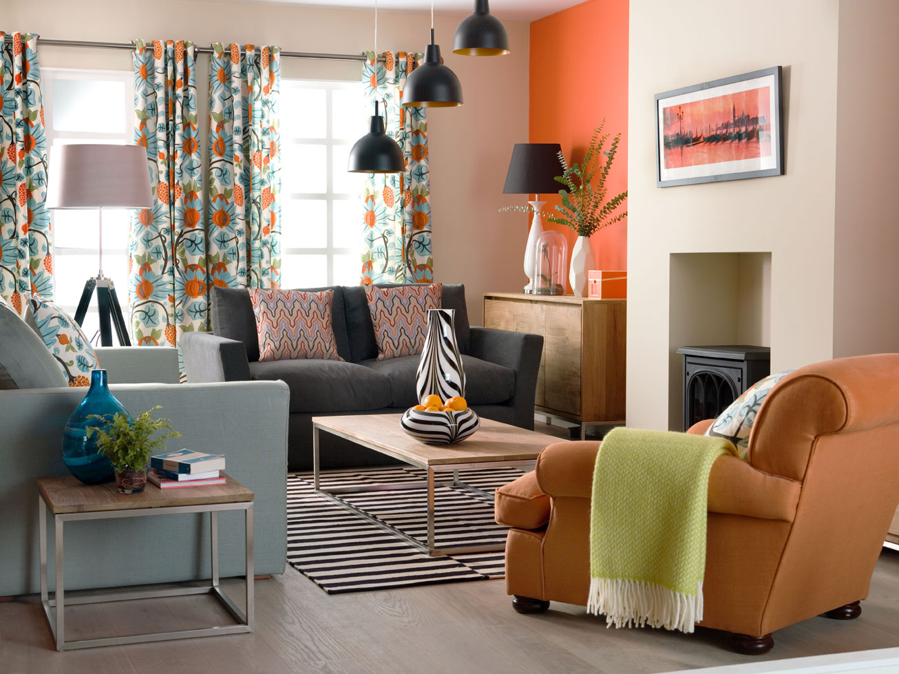 Living room designed by Sophie Robinson for Ideal Home. Photograph by Simon Whitmore