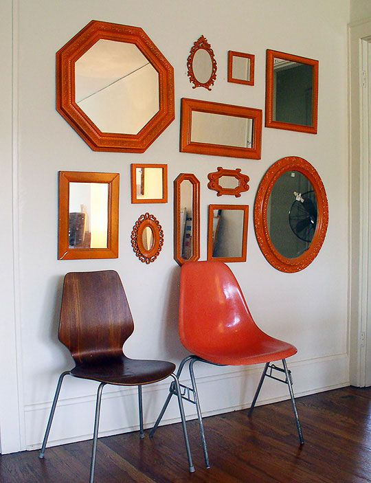 collection of mirrors