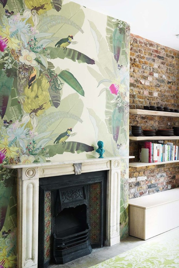 5 tips for decorating with feature wallpaper sophie robinson Fireplace feature wall colour