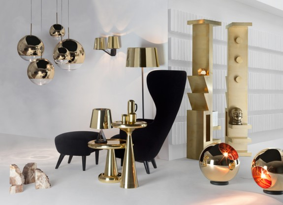Range of gold products by Tom Dixon