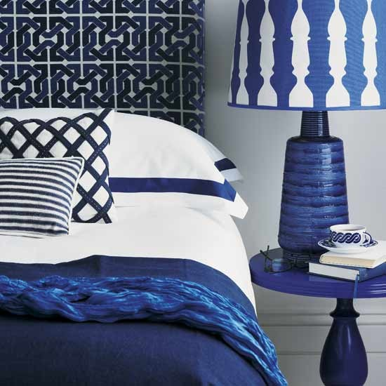 Colour crush electric blue sophie robinson for Electric blue bedroom ideas