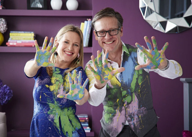 Sophie Robinson and Daniel Hopwood from The Great Interior Design Challenge