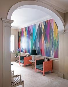 White Modern Hallway With Statement Wallpaper Sophie Robinson