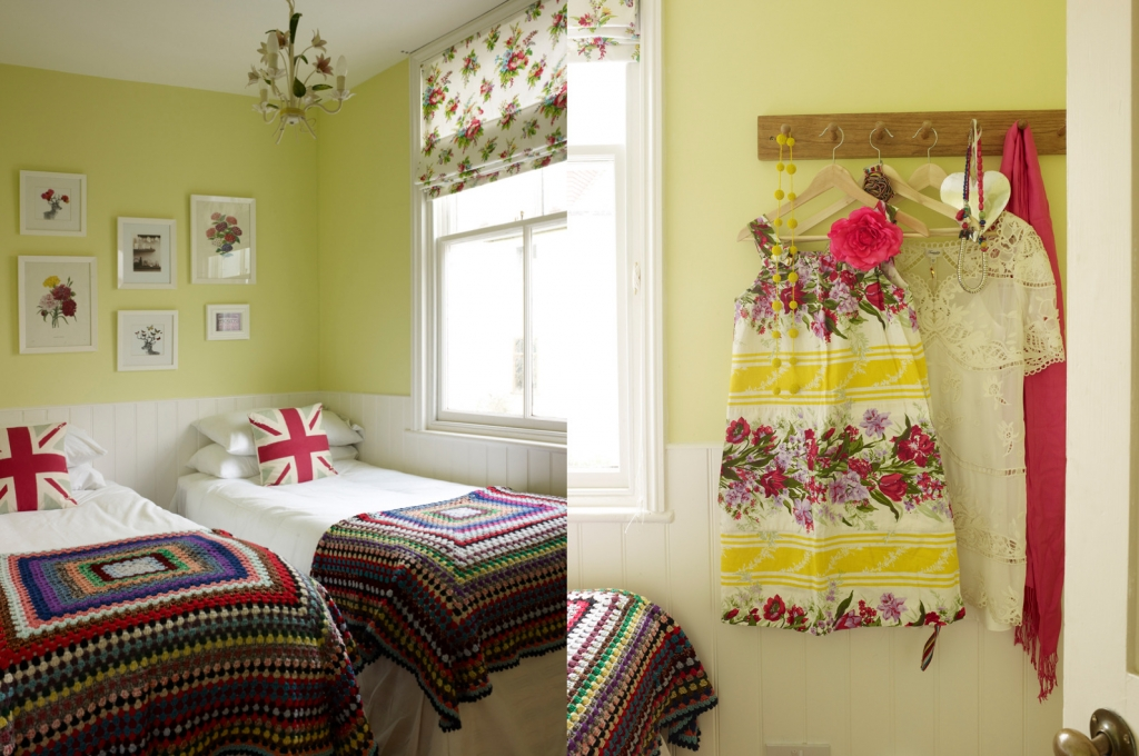 Yellow bedroom by Sophie Robinson. Photograph by Rachael Smith
