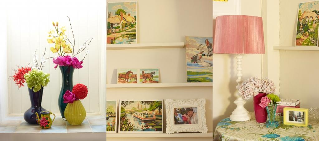 living room vinatge details