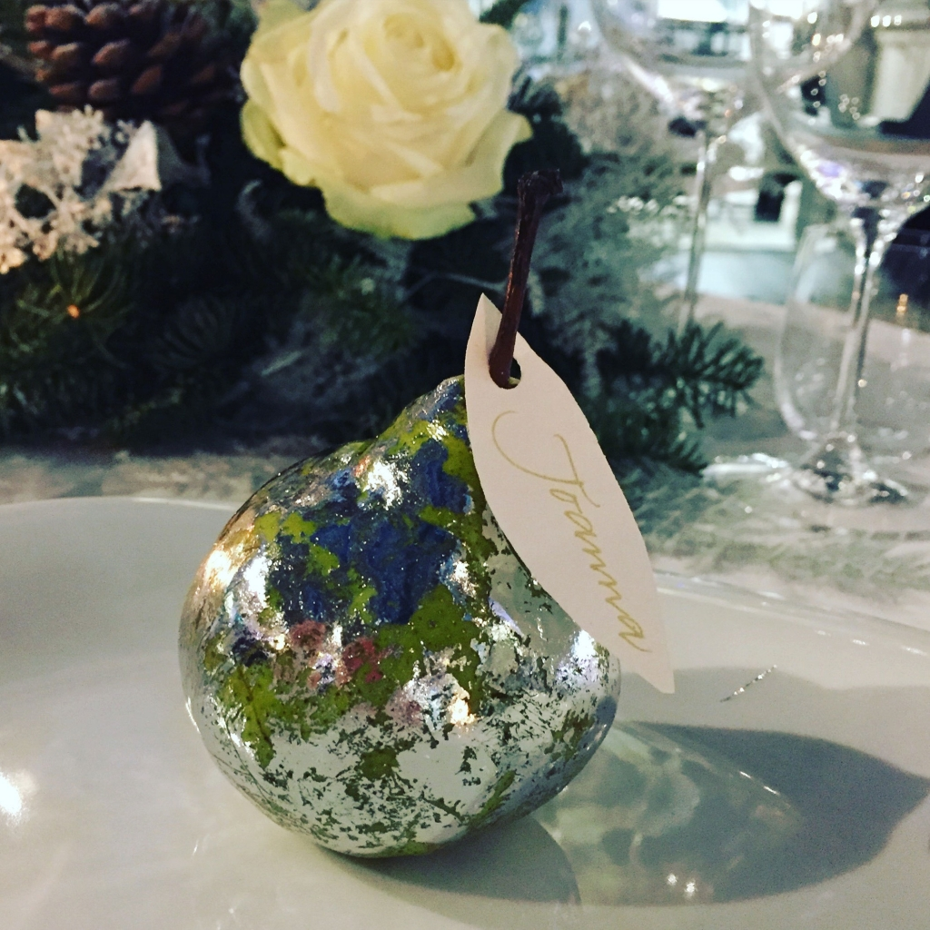 Sophie Robinson gilt pear table setting