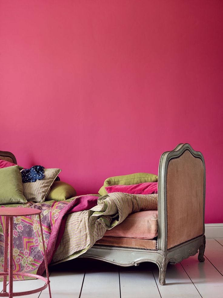 Bright pink bedroom