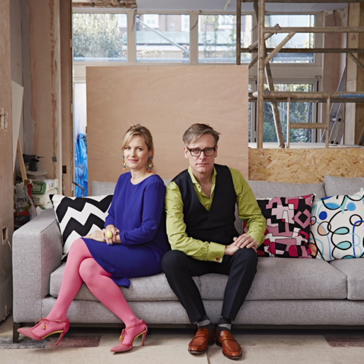 Sophie Robinson and Daniel Hopwood from series 3 of The Great Interior Design Challenge BBC2