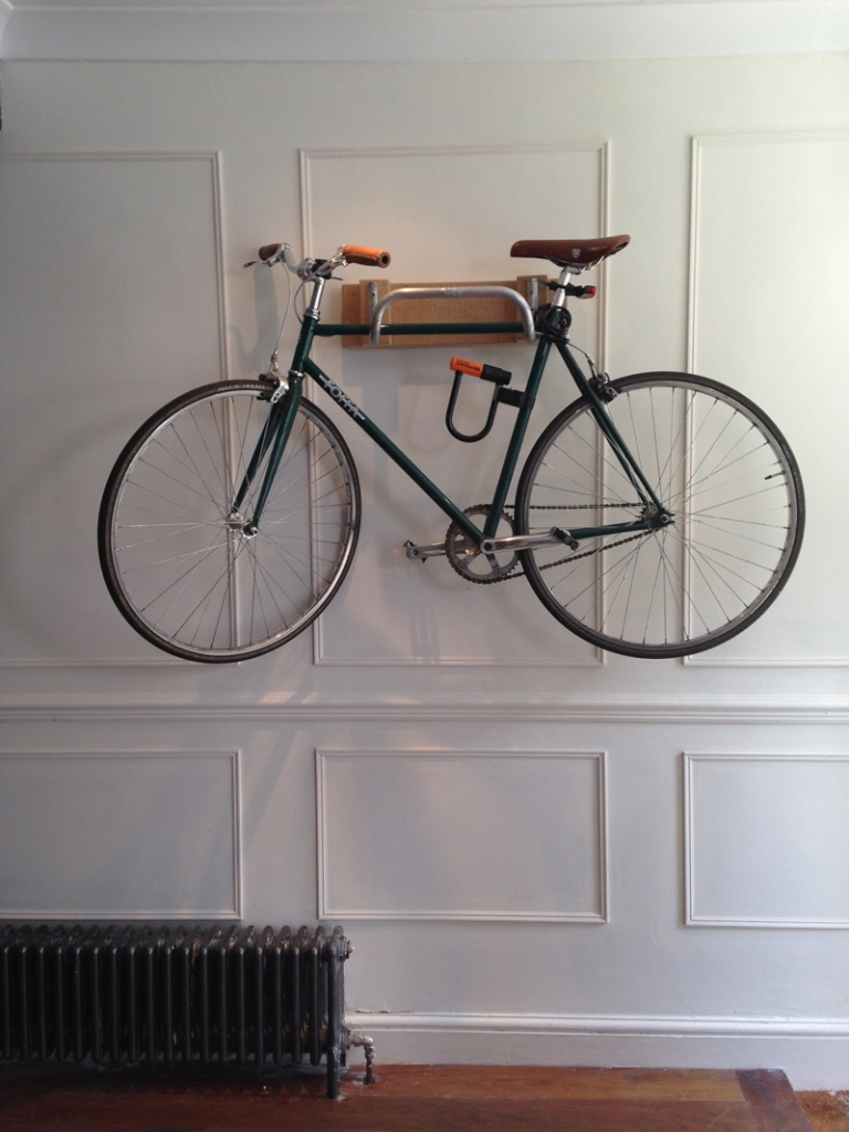 bike rack for hallway by The Great Interior Design Challenge