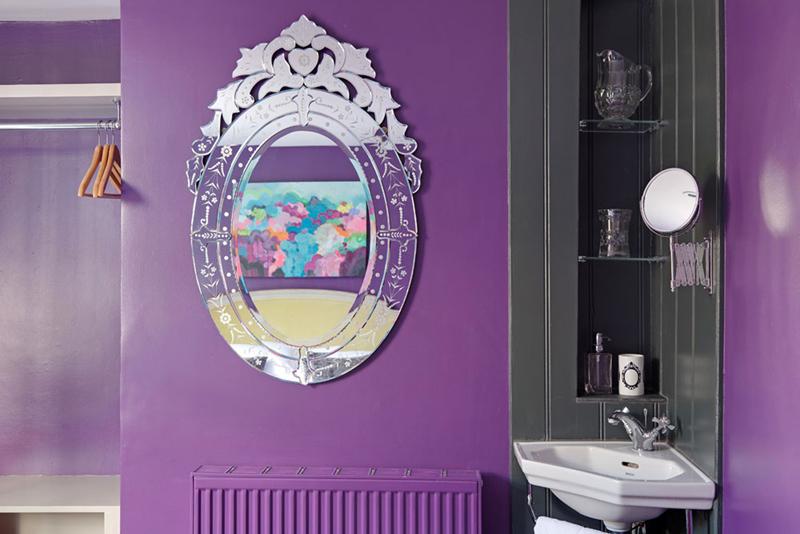 Smugglers Retreat guest bedroom mirror sophierobinson.co.uk