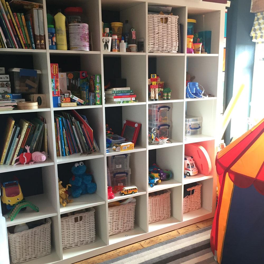 Kids bedroom storage. room designed by Sophie Robinson