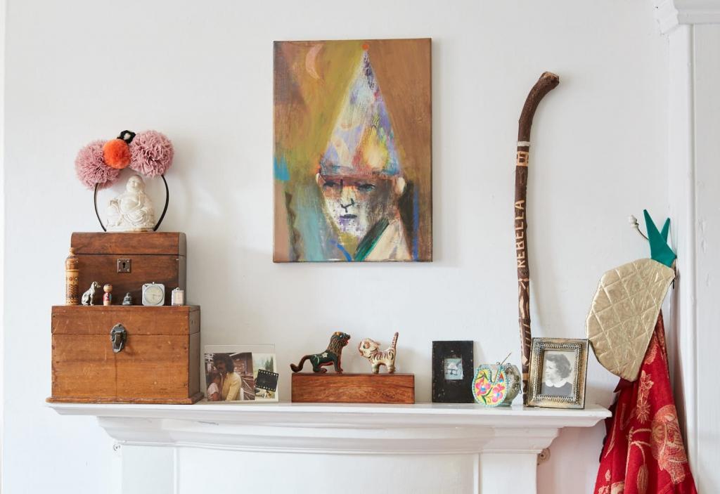 Artist Becky Blair paintings. Photograph by Hugh Fox