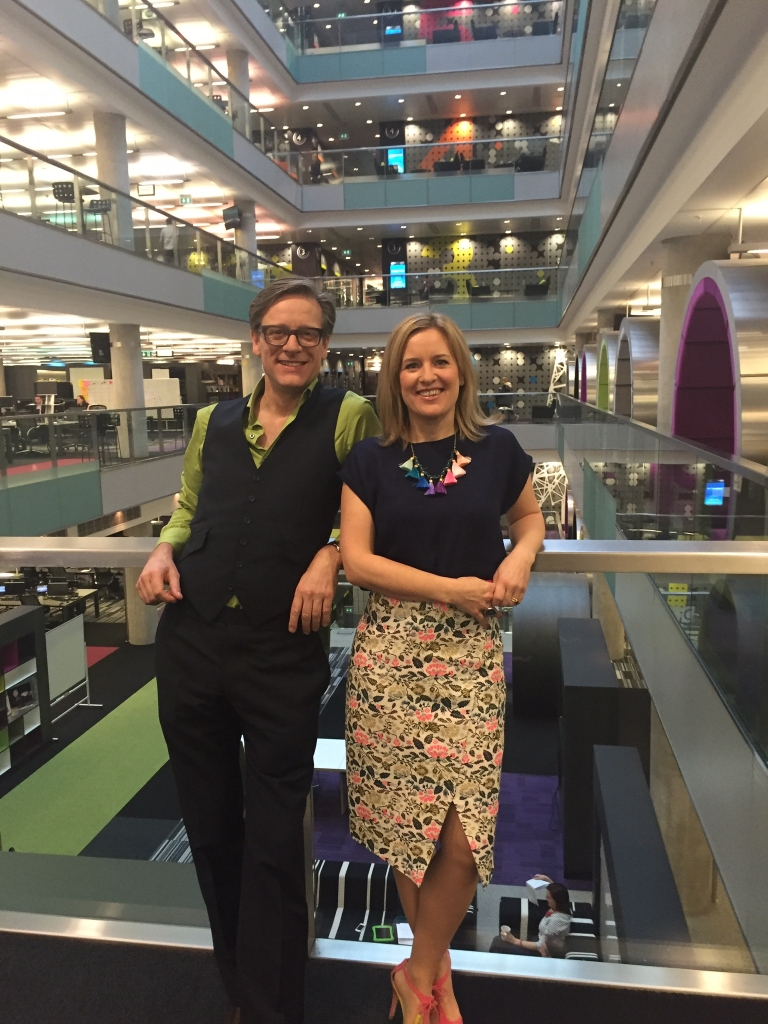 Sophie robinson and Daniel Hopwwod from The Great Interior Design Challenge at BBc Breakfast