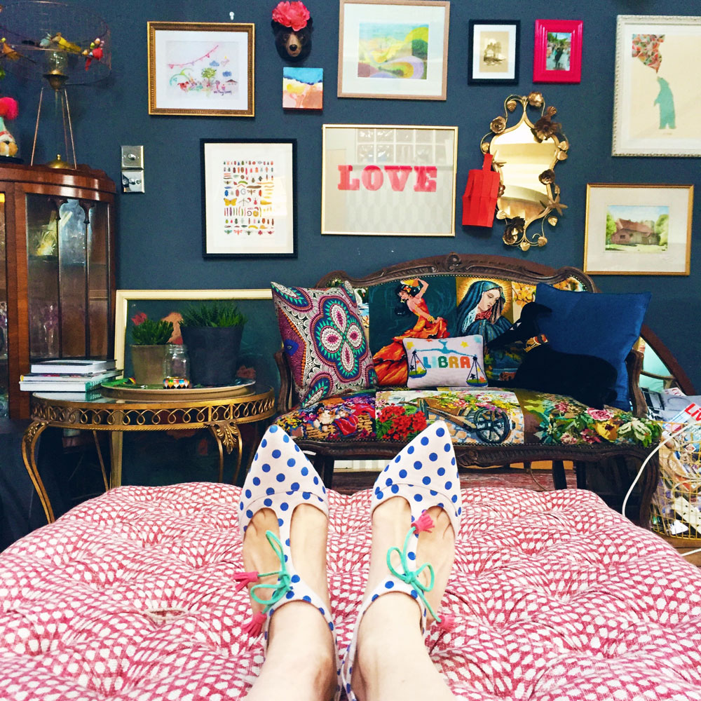 Sophie Ribinson in shoes by Boden