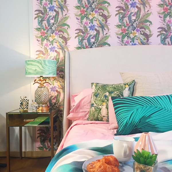 Tropical bedroom design by Sophie Robinson