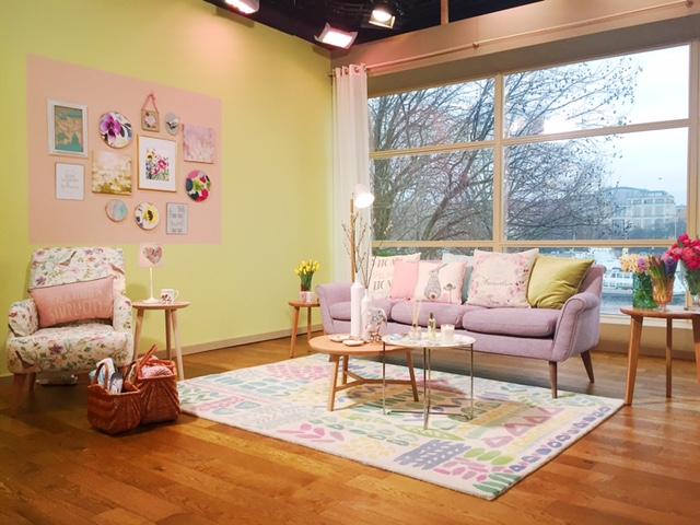 Sophie Robinson spring pastel living room
