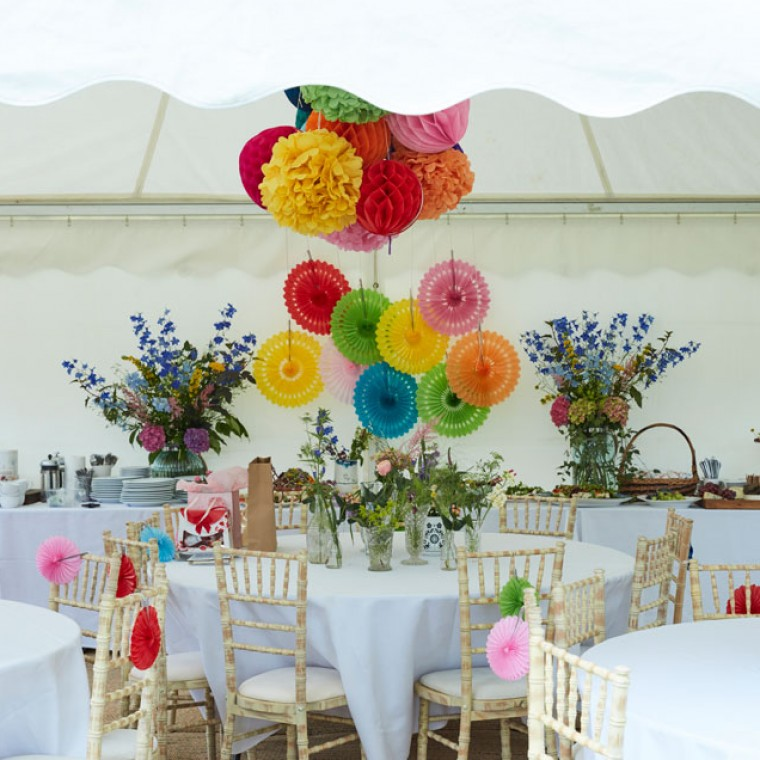 A Summer garden party at the home of Sophie Robinson to celebrate the 70th birthday of her mum. Set in the idyllic Sussex countryside the video shows lots of ideas on how to style your garden party including a buffet style lunch and how to dress the marquee as well as serving drinks.