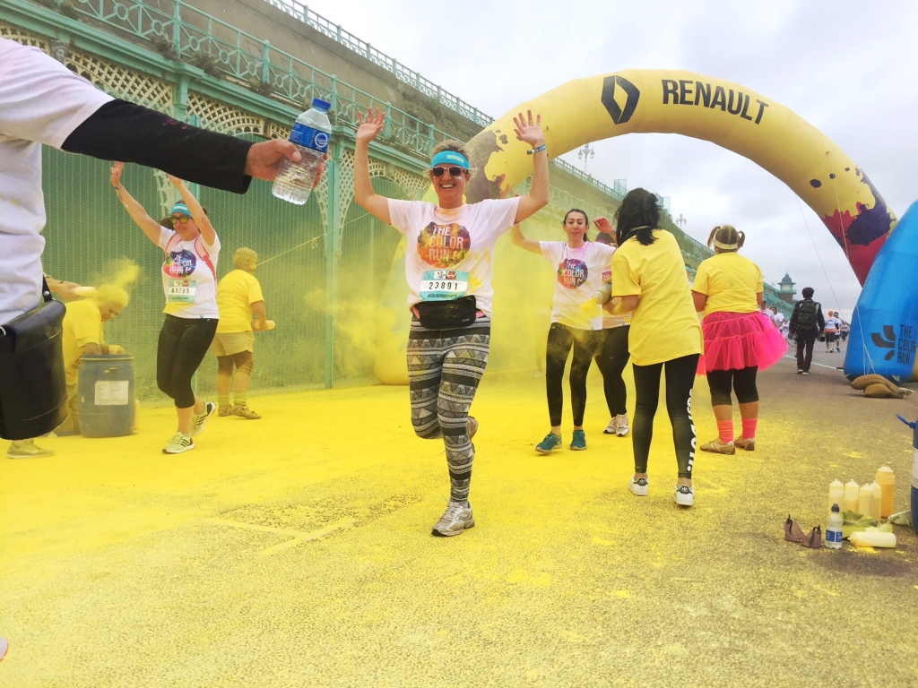 Sophie Robinson taking part in the Brighton Color Run