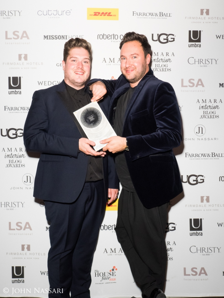 Winner of the IBA16 best Interior Designer category went to Jordan and Russell from 2lovelygays. Jordan was winner of the Great interior Design Challenge 2014