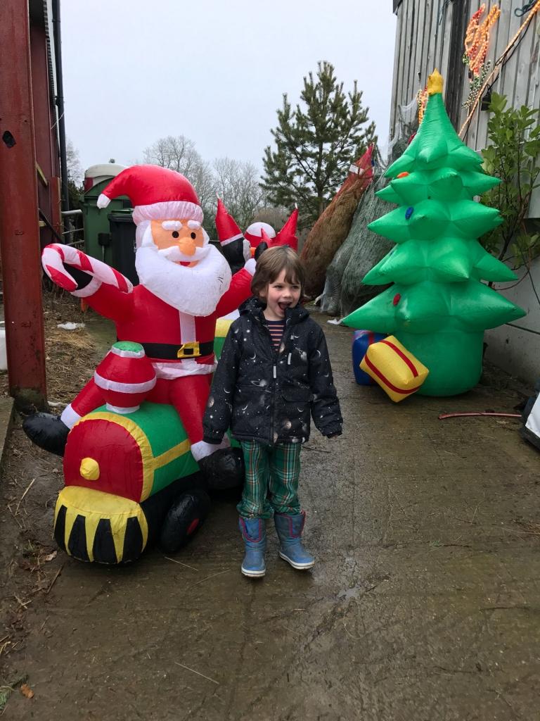 Get into the chrsutmas spirit with a tacky inflatable christmas santa