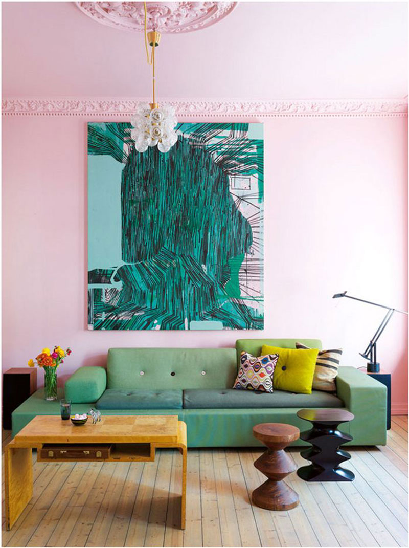 Colour crush emerald green with pink sophie robinson - Grey and emerald green living room ...