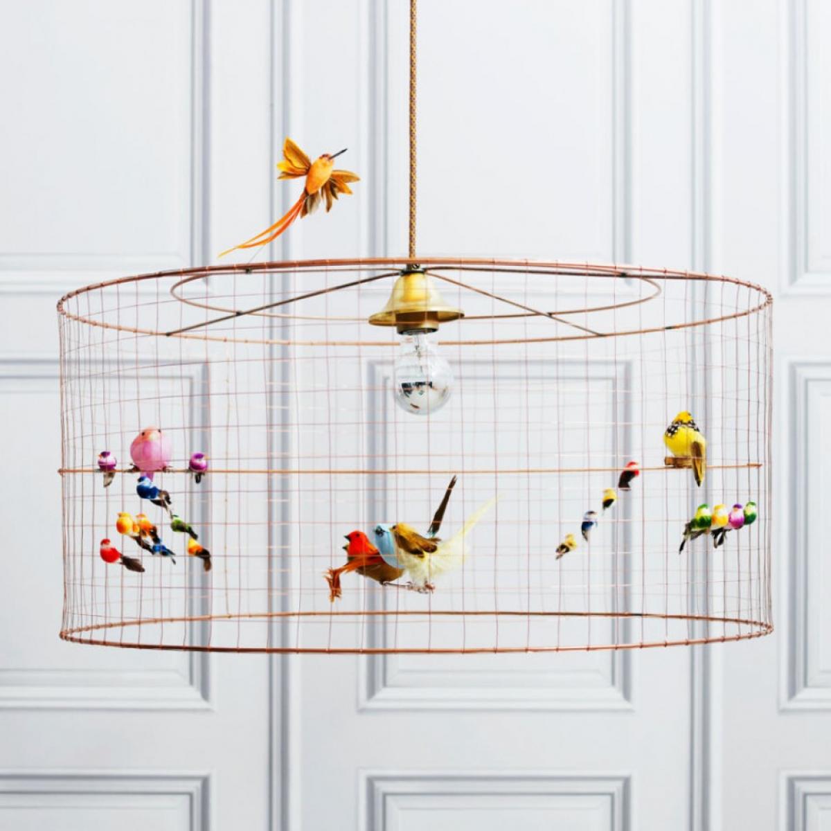 La Voltiere pendant light birdcage