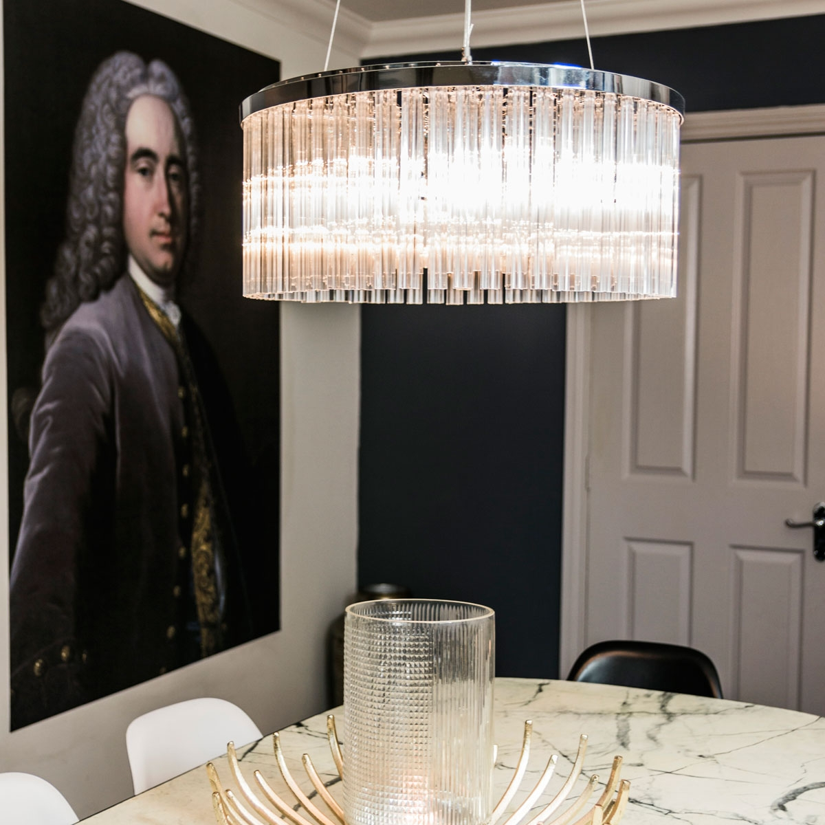 dining room of interior designer Daniela Tasca York winner of BBC2s The Great Interior Design Challenge