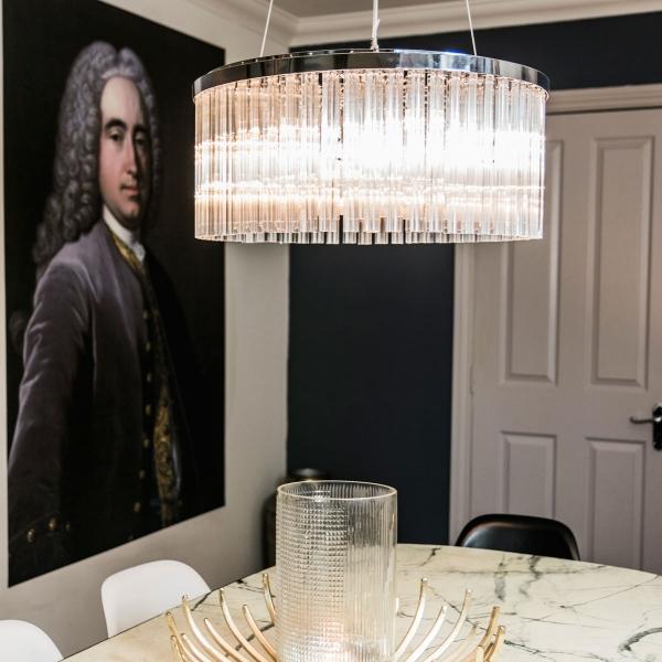 dining room of interior designer Daniela Tasca York winner of BBC2s The Great Interior Design Challenge