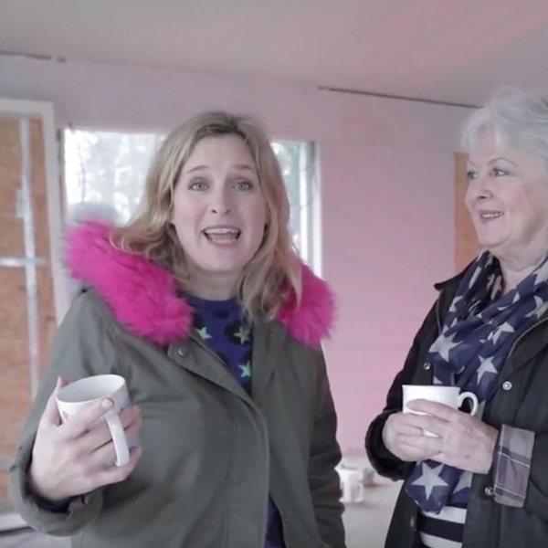 Interior Designer Sophie Robinson with her Mum in the Granny Annex garage conversion