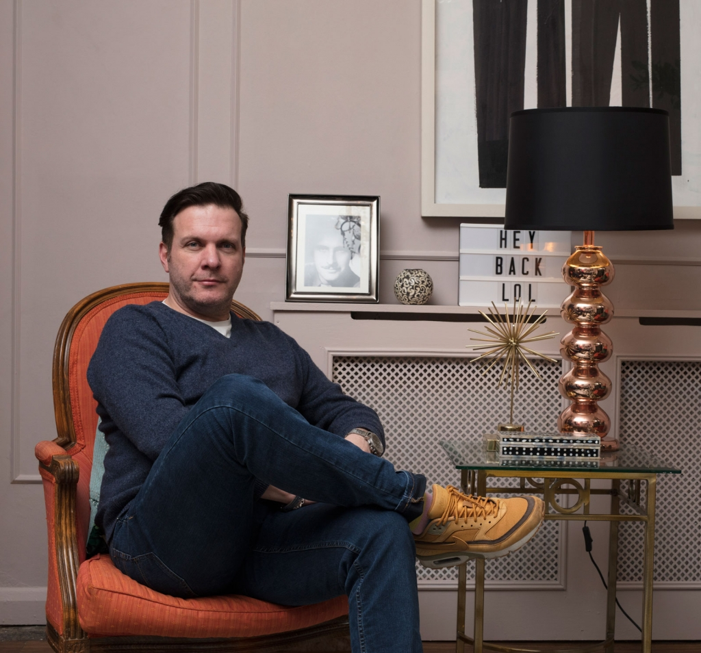 Interior designer Oliver Thomas from The great interior design challenge at his home