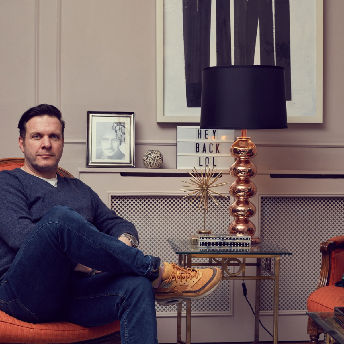 Interior designer Oliver Thomas from The Great Interior Design Challenge at home, interviewed by Sophie Robinson