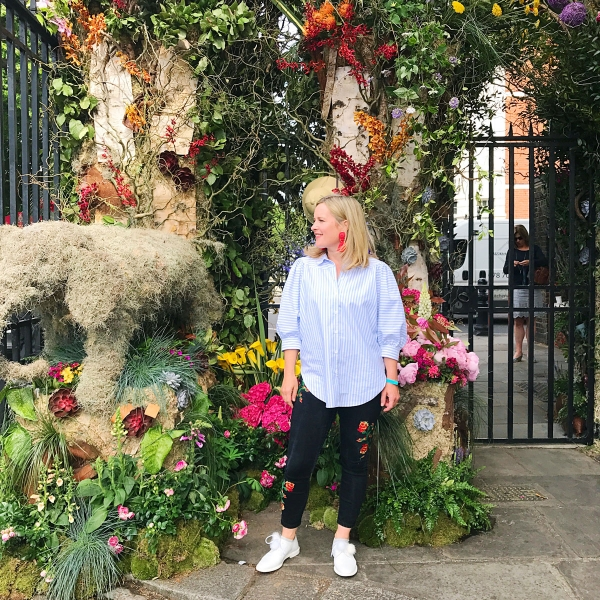 Interior Designer from BBC2's The Great Interior Design Challenge at RHS CHelsea Flower Show 2017