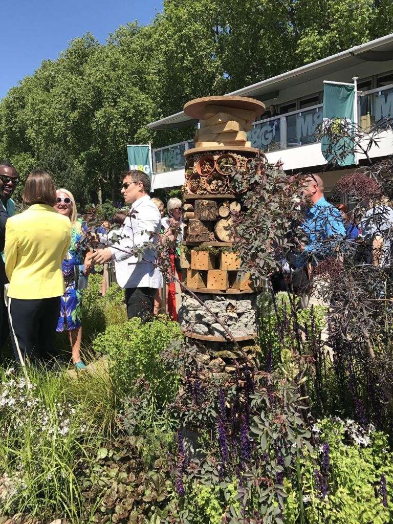 Bug hotel at RHS Chelsea Flower Show