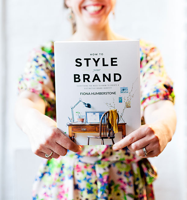 How to Style your brand by Fiona Humberstone is the book on creating abrand identity and using colour psychology to create a strong and coherent barnd