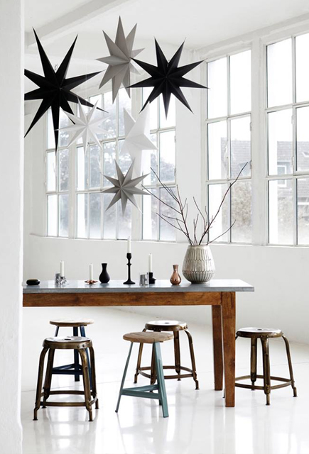 The winter personality loves interiors with stark constrast. Stylsih home of karine Kong