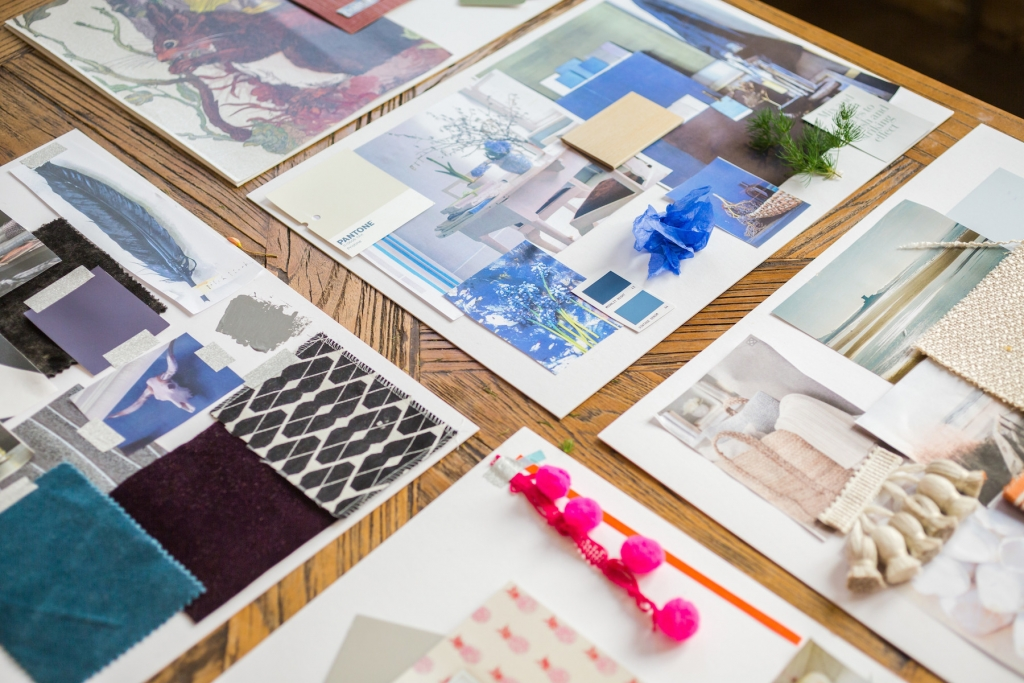 Colour psychology for inyterior designers mood board