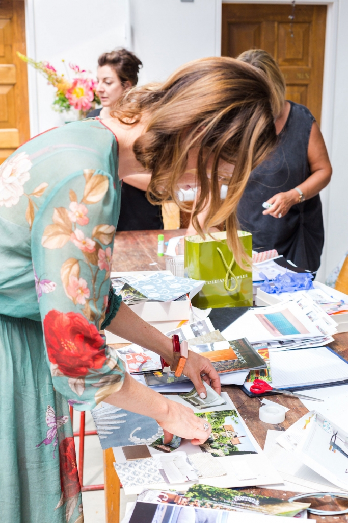 creting a vision board and mood board as part of the colour psychology for interiors event