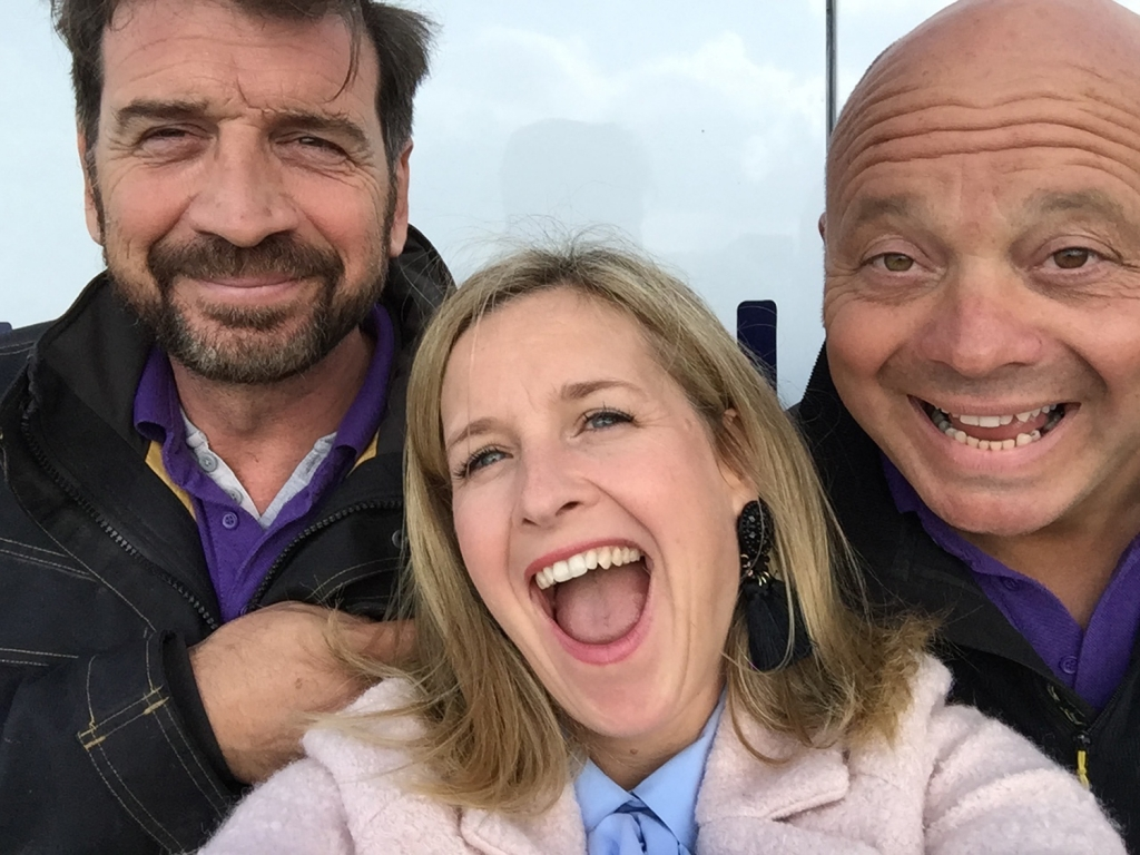 DIY SOS team Nick Knowles, interior designer Sophie Robinson and Jules