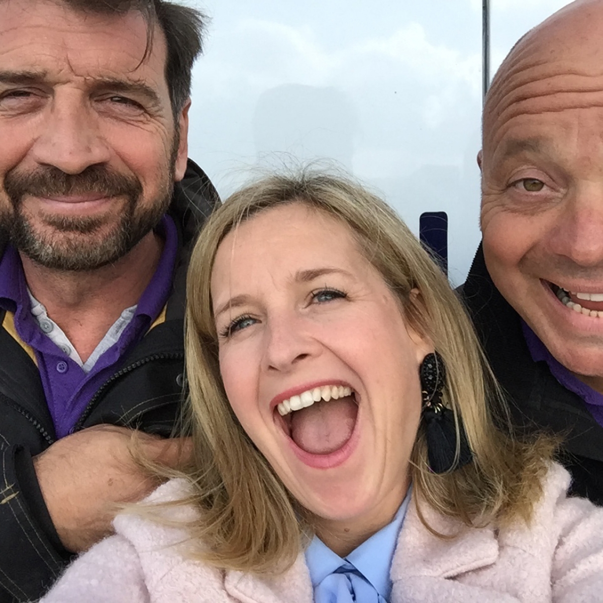 DIY SOS Team Nick Knowles Interior Designer Sophie Robinson And Jules