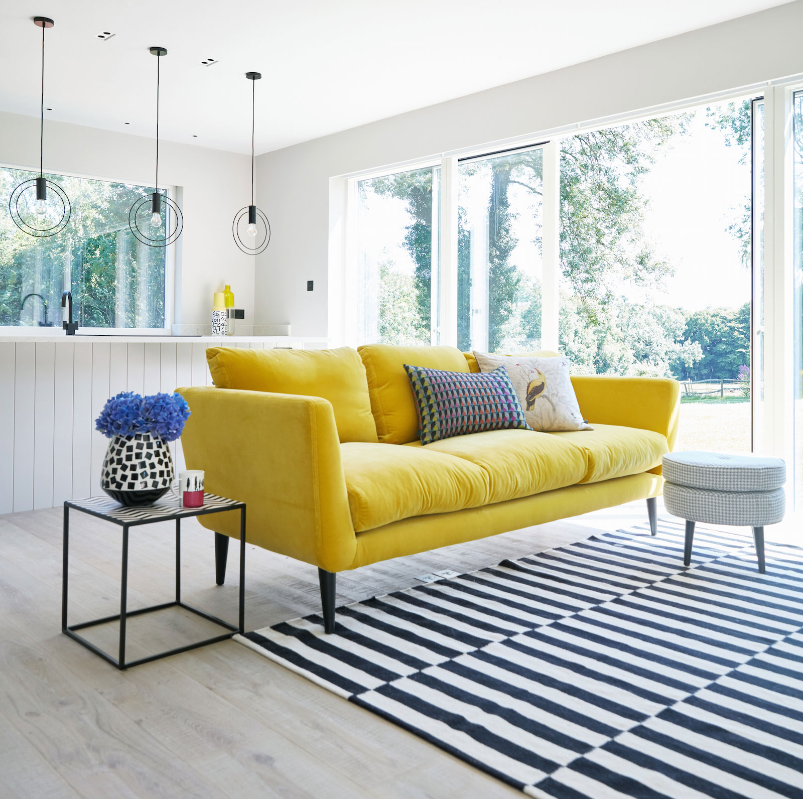 That yellow velvet sofa sophie robinson - Yellow interior house design photos ...
