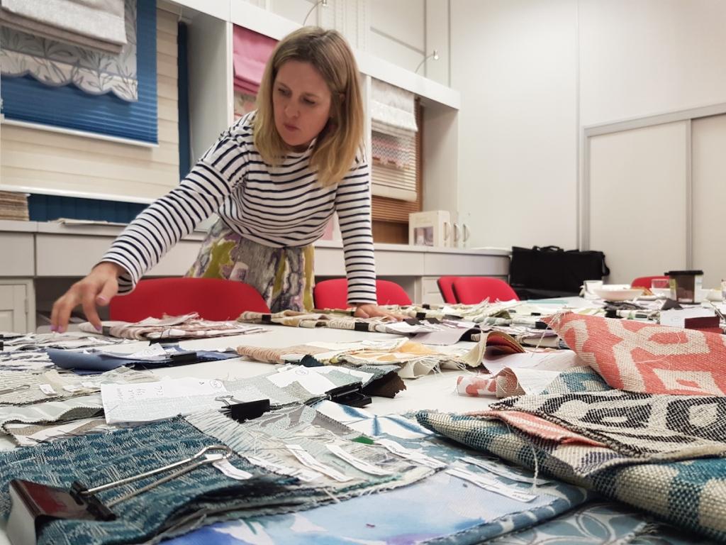 Sophie robinson interior designer at Hillarys in Nottingham