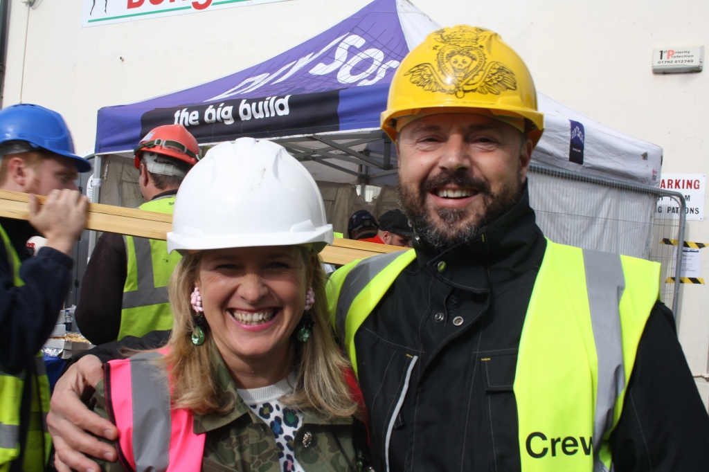 Interior designers Sophie Robinson and Gordon Whistance from BBC Ones DIYSOS