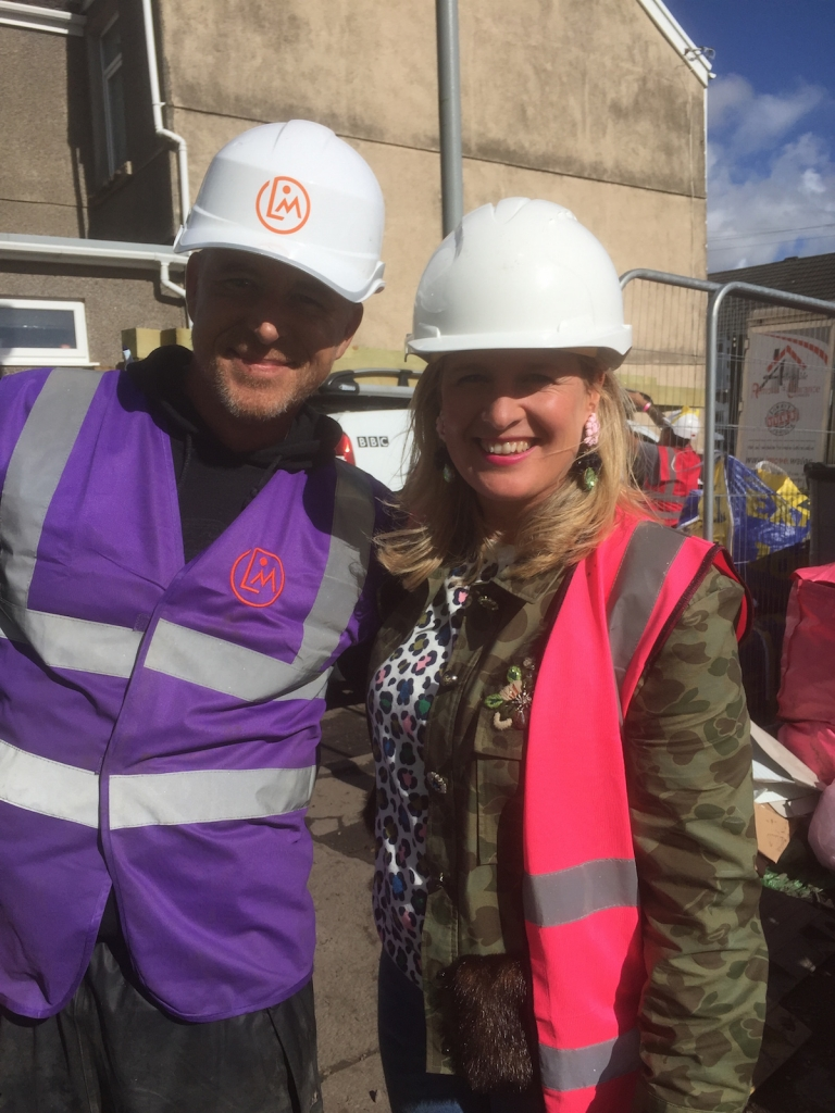Interior designer Sophie Robinson with garden designer lawrence Mitchell