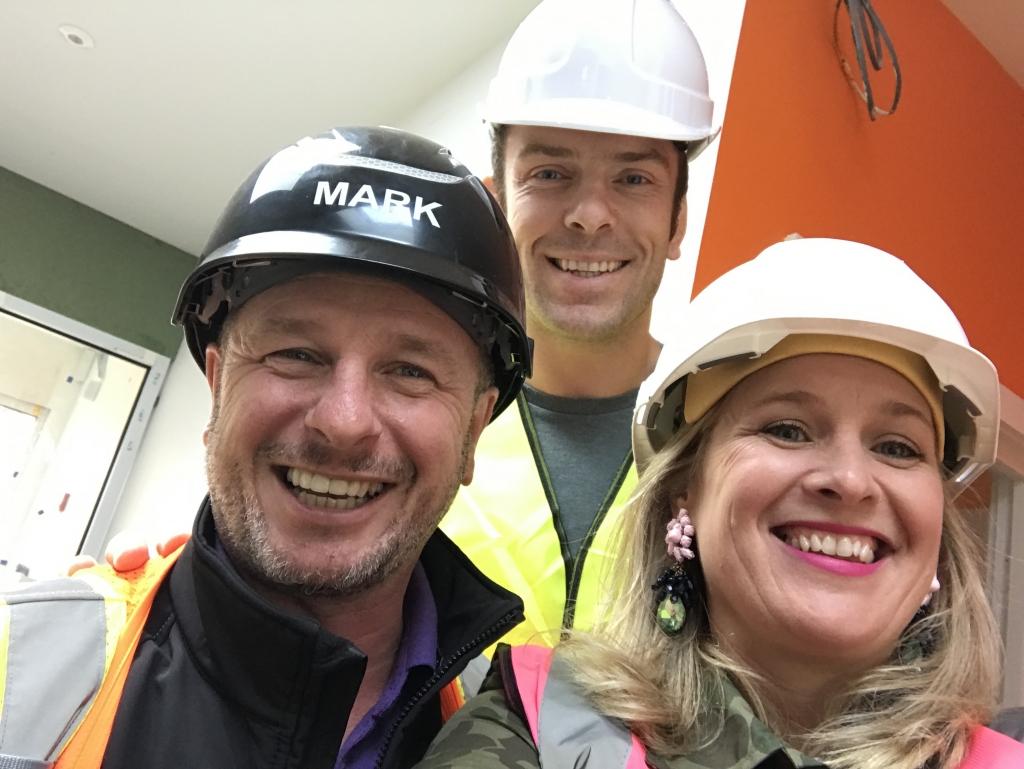 Mark Millar, Sophie Robinson and Alun Wyn Jones